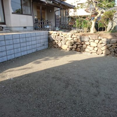 松江市H様邸お庭の外構